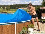 Medence Takaró, Szolártakaró 305cm felfújható medencéhez