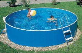 Basic 460 fémfalas medence , 2,5m3/h vízforgatóval, létrával